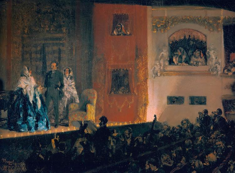 Adolph Menzel - Theatre du Gymnase in Paris