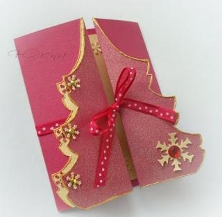 Como hacer una tarjeta de navidad f cil y bonita - Tarjetas de navidad artesanales ...