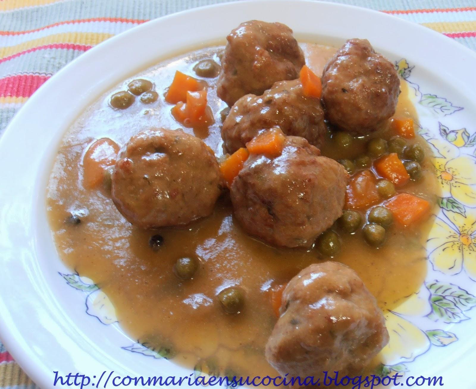 Cocinar Albondigas Caseras   Con Maria En Su Cocina Albondigas En Salsa Casera Tiernas Y