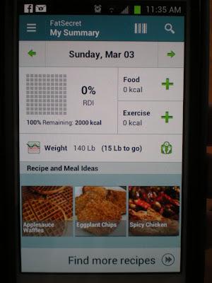 Fat Secret's Calorie Counter app