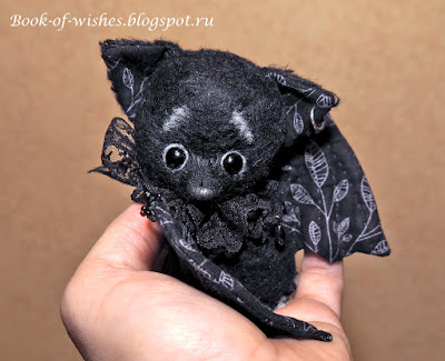 tiny handmade bat