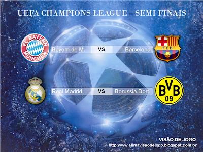 Semi Finais UEFA Champions League 2012/2013 jogos decisivos