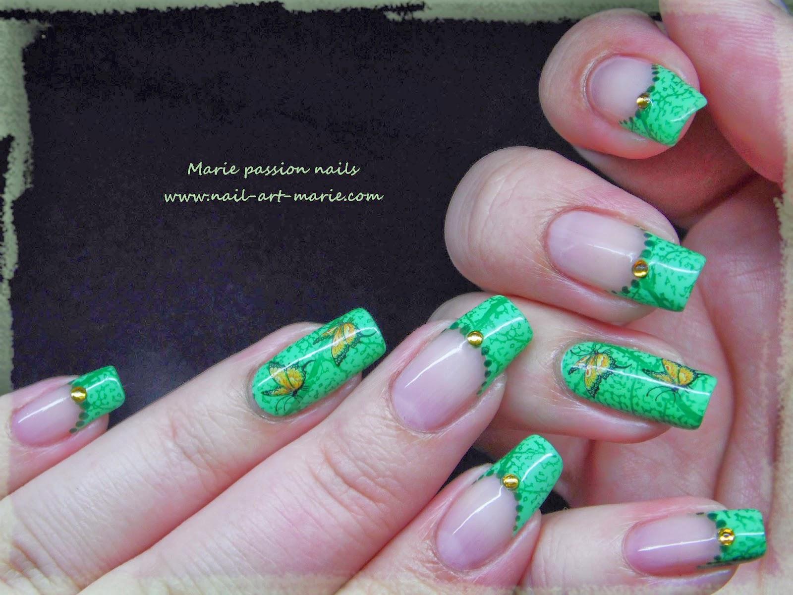 Nail art French nature3
