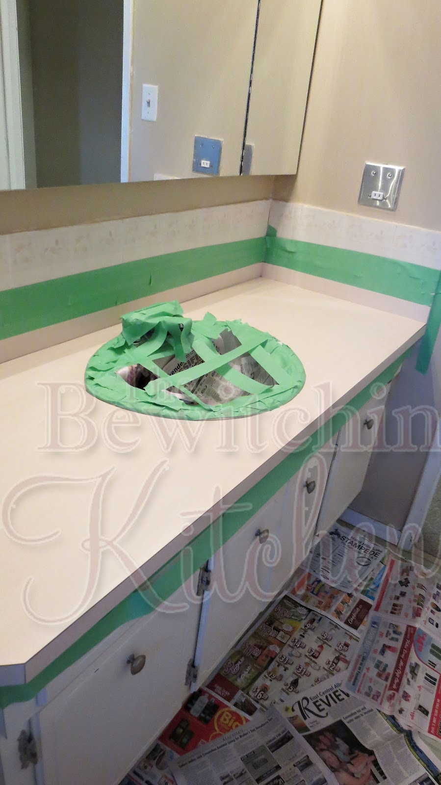 Diy bathroom countertops for 25 the bewitchin 39 kitchen - How to decorate a bathroom counter ...