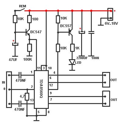 TDA8560Q amplifier diagram, circuit