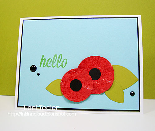 Hello card-designed by Lori Tecler/Inking Aloud-stamps from Avery Elle