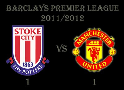 Stoke City vs Manchester United Barclays Premier Results