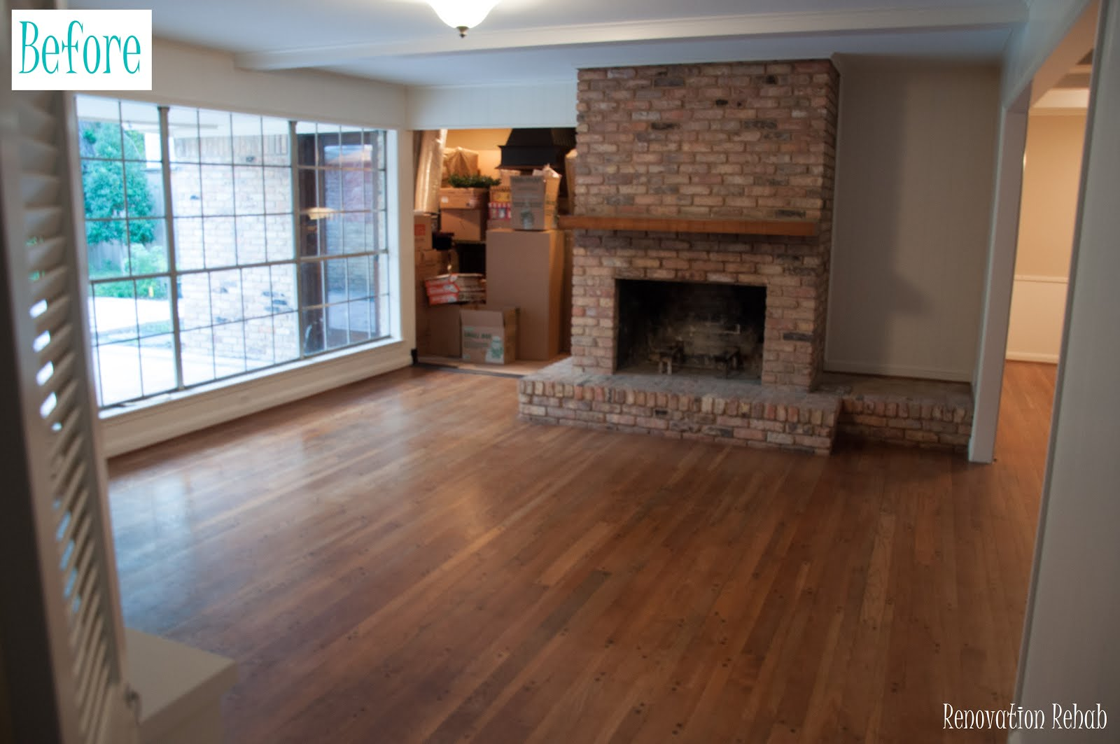 renovation rehab fireplace makeover