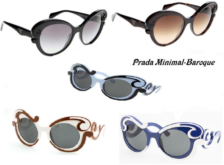 GLAMOUR CHOCOLATE: Prada Minimal-Baroque Sunglasses.