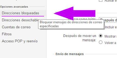 bloquear direcciones de correo en yahoo mail