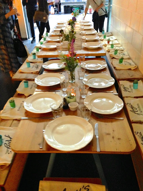 table setting at Amy's Kitchen Summer