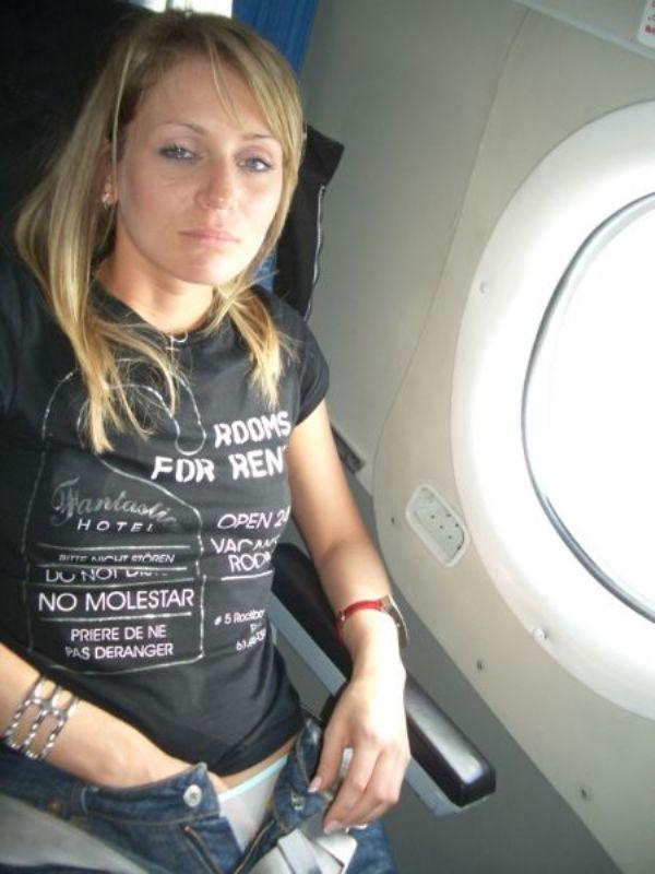 Caught wanking on plane