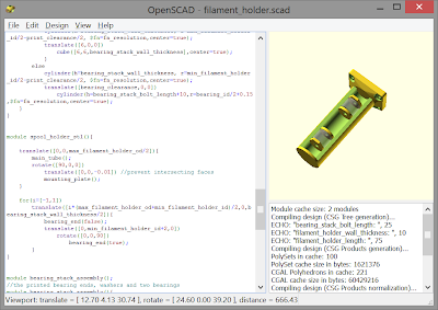 The OpenSCAD design environment