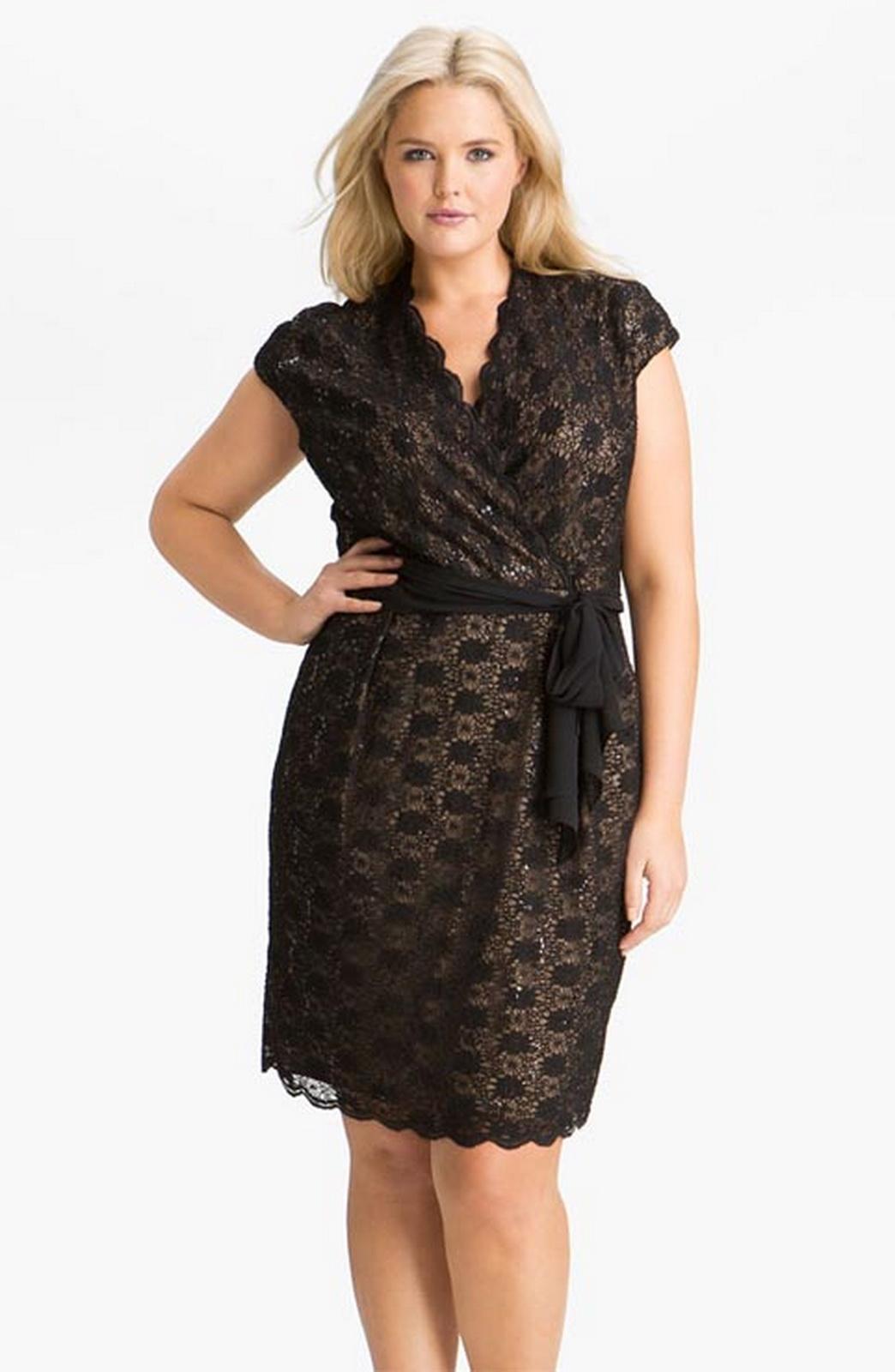 Модели платьев для полных женщин фото из гипюра