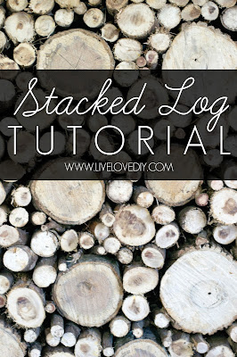 Faux Stacked Log Fireplace Tutorial | LiveLoveDIY