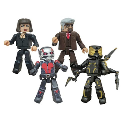 Ant-Man Movie Marvel Minimates Box Set - Scott Lang as Ant-Man, Hope Van Dyne, Hank Pym & Yellowjacket