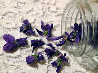Pouring Violets out of Jar