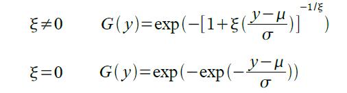 Generalized Extreme Value (GEV)