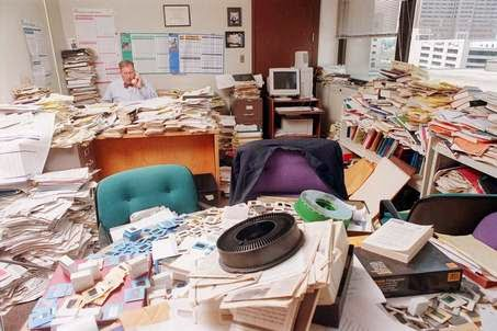 Cluttered Office Space