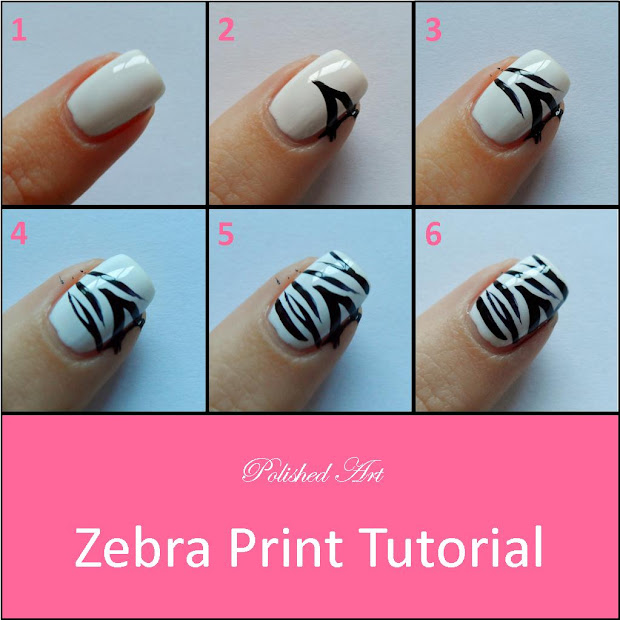 polished art zebra print tutorial
