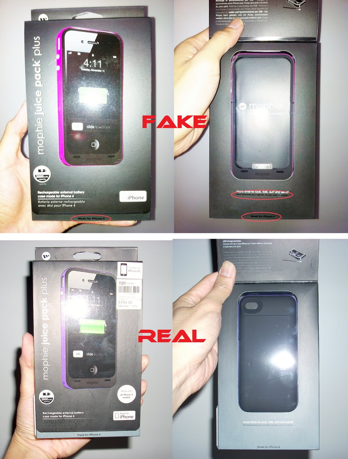 Fake Packaging Packs The Juice Pack Plus Facing Up Real Down