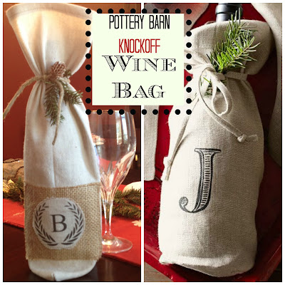 http://www.twoityourself.com/2013/12/diy-monogrammed-wine-bottle-bag-pottery.html