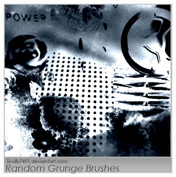 Random Grunge by Scully7491 30 Must Have Grunge Photoshop Brushes Collection Set