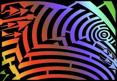 maze of a dolphin op art