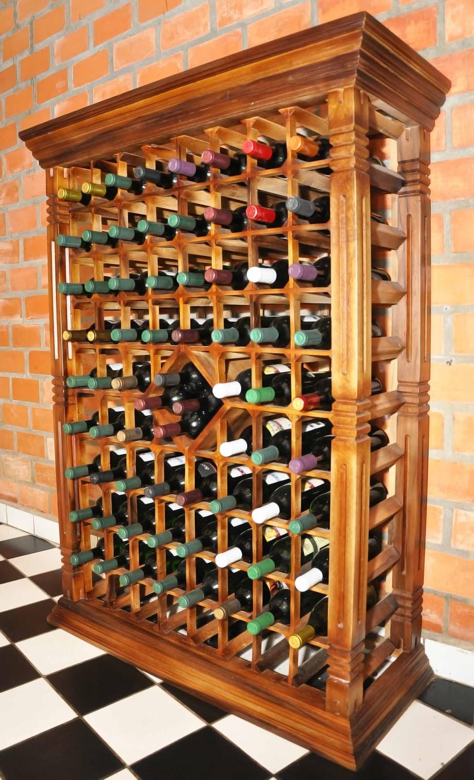 ARTEZZINI - Arte em Madeira: Adega para 80 Garrafas de Vinho