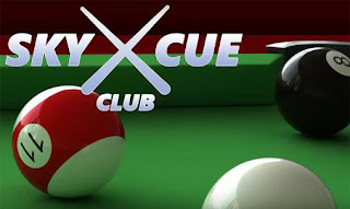 Screenshots of the Sky X Cue Club for Android tablet, phone.