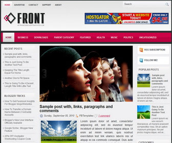 Front Blogger Template