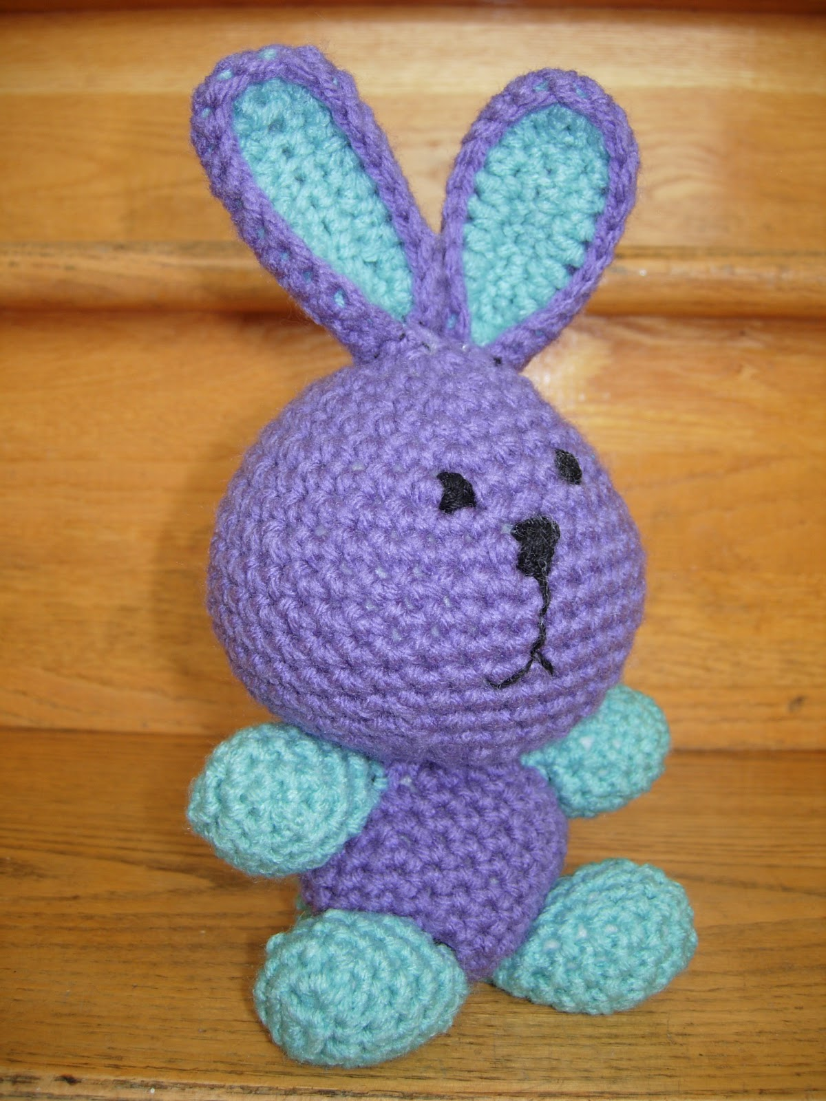 Amigurumi Rabbit Face : Krazy Kabbage: Purple Amigurumi Bunny