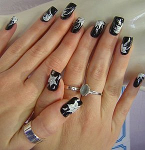 wallpaper skyline women easy nail art designs  desugn