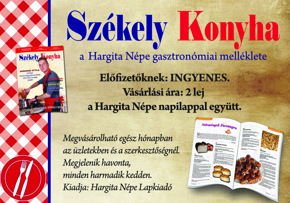 Székely Konyha - új gasztronómiai lap az erdélyi piacon ...