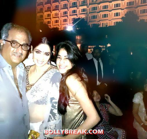 Sridevi with boney kapoor and jhanvi kapoor - (4) -  Sridevi's Twitter Pictures with Daughters & Family