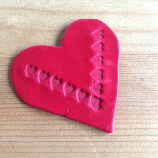 Sculpey Clay Stamped Heart
