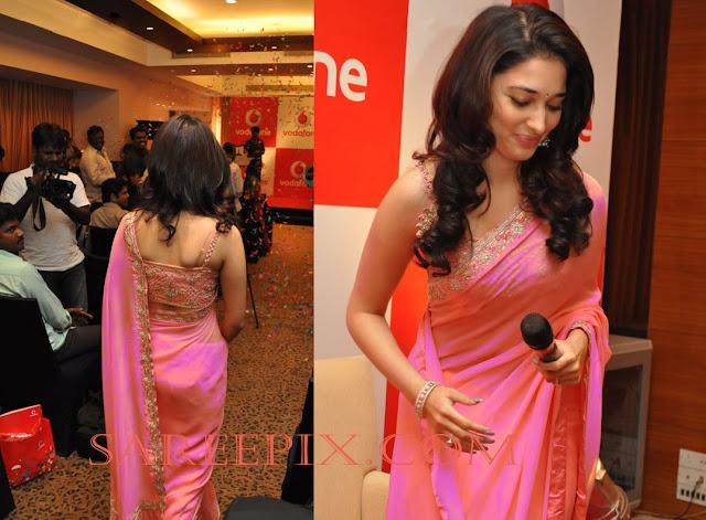 Tamanna bhatia back in pink saree