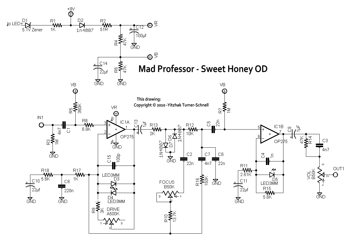 SweetHoney_schematic mad professor sweet honey overdrive la r�volution deux mad enterprises wiring diagram at couponss.co