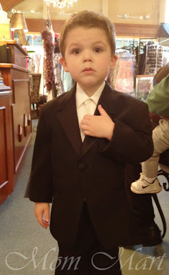 Little man in a tuxedo!