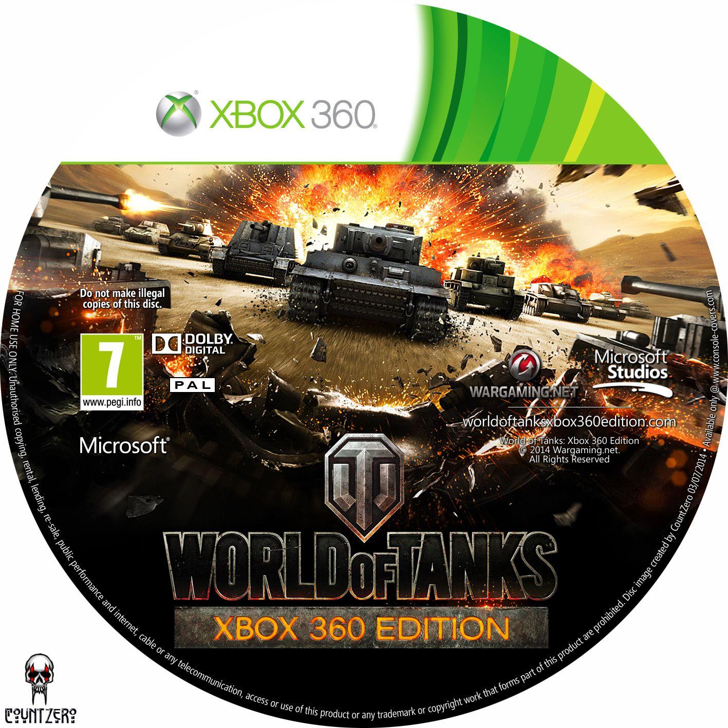 Label World Of Tanks Xbox 360 Edition