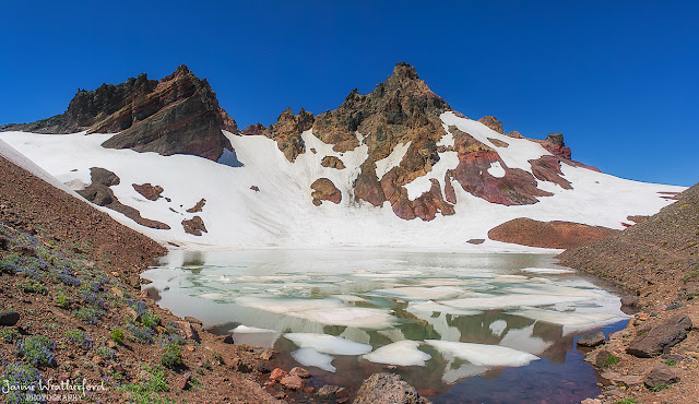 Broken top summit hike unnamed lake unnamed pool waterfall bend oregon central oregon Jaime Weatherford