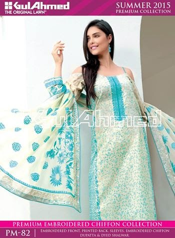Pakistani designer lawn suits gul ahmed