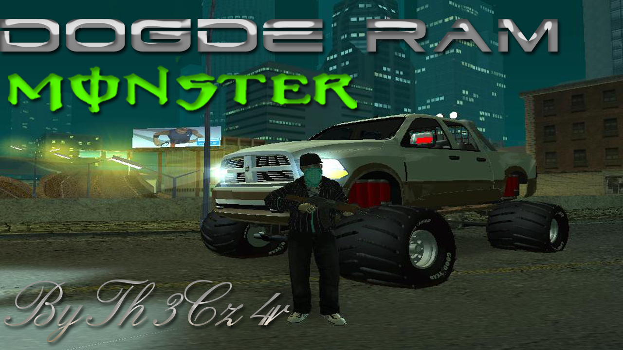 Dodge Ram Monster Truck 2012 By Th3Cz4r  GTA San Andreas