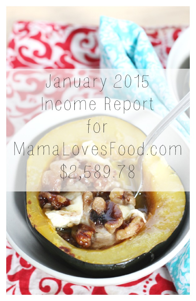 Income and Traffic Report for MamaLovesFood.com - January 2015