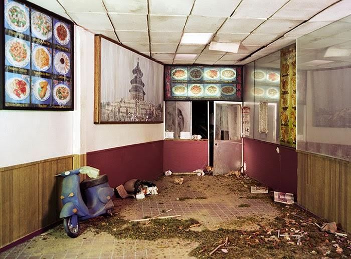 miniatura de restaurante tras apocalipsis