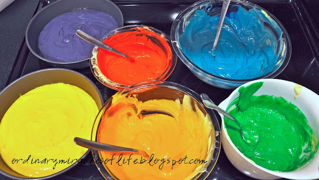 Concentrated Food Coloring Rainbow Cake