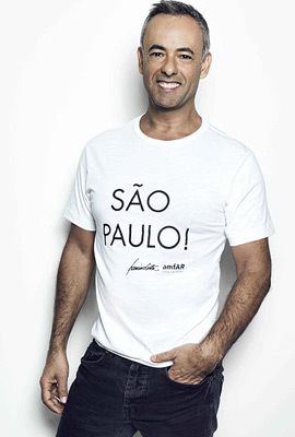 camiseta solidaria amfAR Francisco Costa