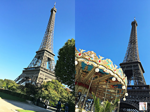 Parisian Adventures in October, Paris Eiffel Tower Carousel visit