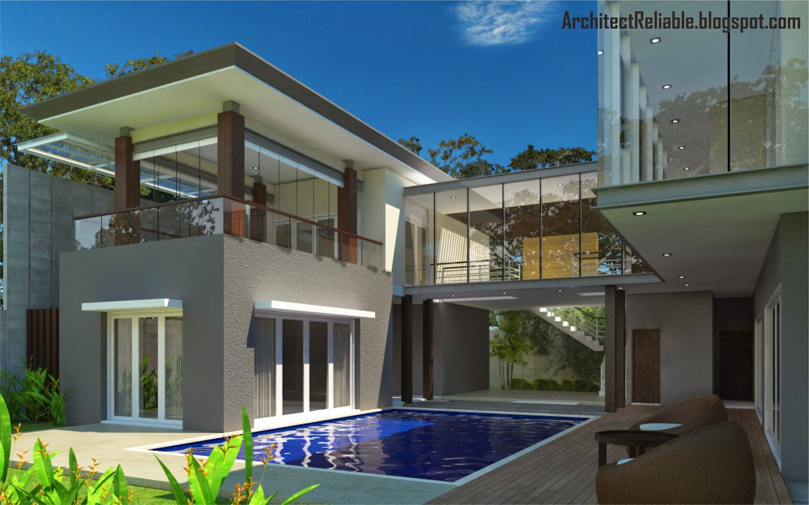 Desain architect tropical minimalist house models for Minimalist house blog