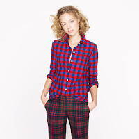 J. Crew Boyshirt in Poppy Plaid